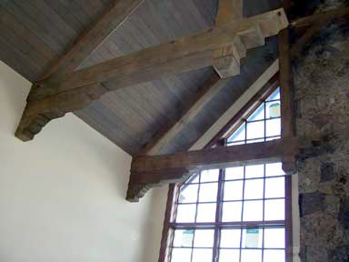 The finishing touch on a timber truss