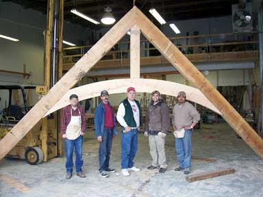 Custom Box Beam Timber Trusses And Curved Wood Products By