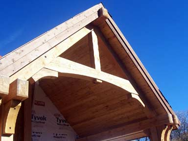 Timber truss accent